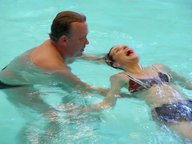 float-swimming